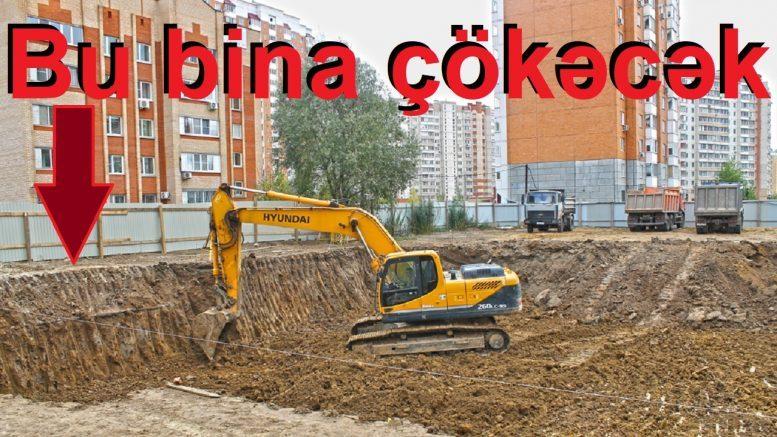 Xətai Rayonu Əhmədli Qəsəbəsində qanunsuz inşaat nəticəsində yaşayış binasının çökmə təklükəsi var!