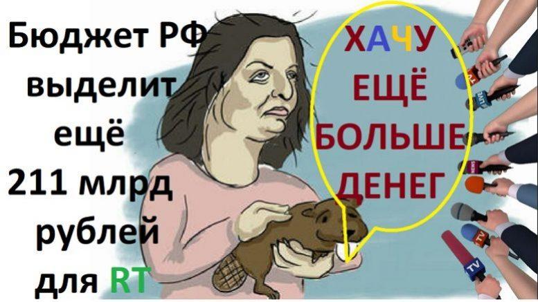 Не шутка на 1 Апреля! Власти выделили 211 млрд рублей для Марго Симонян из госбюджета РФ